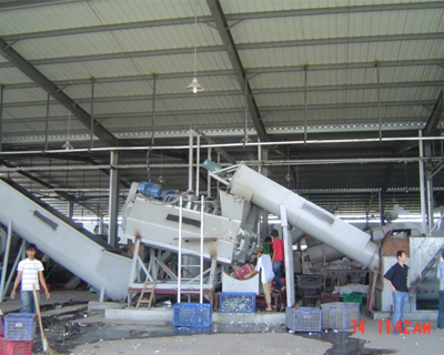 PET recycling project in Indonesia